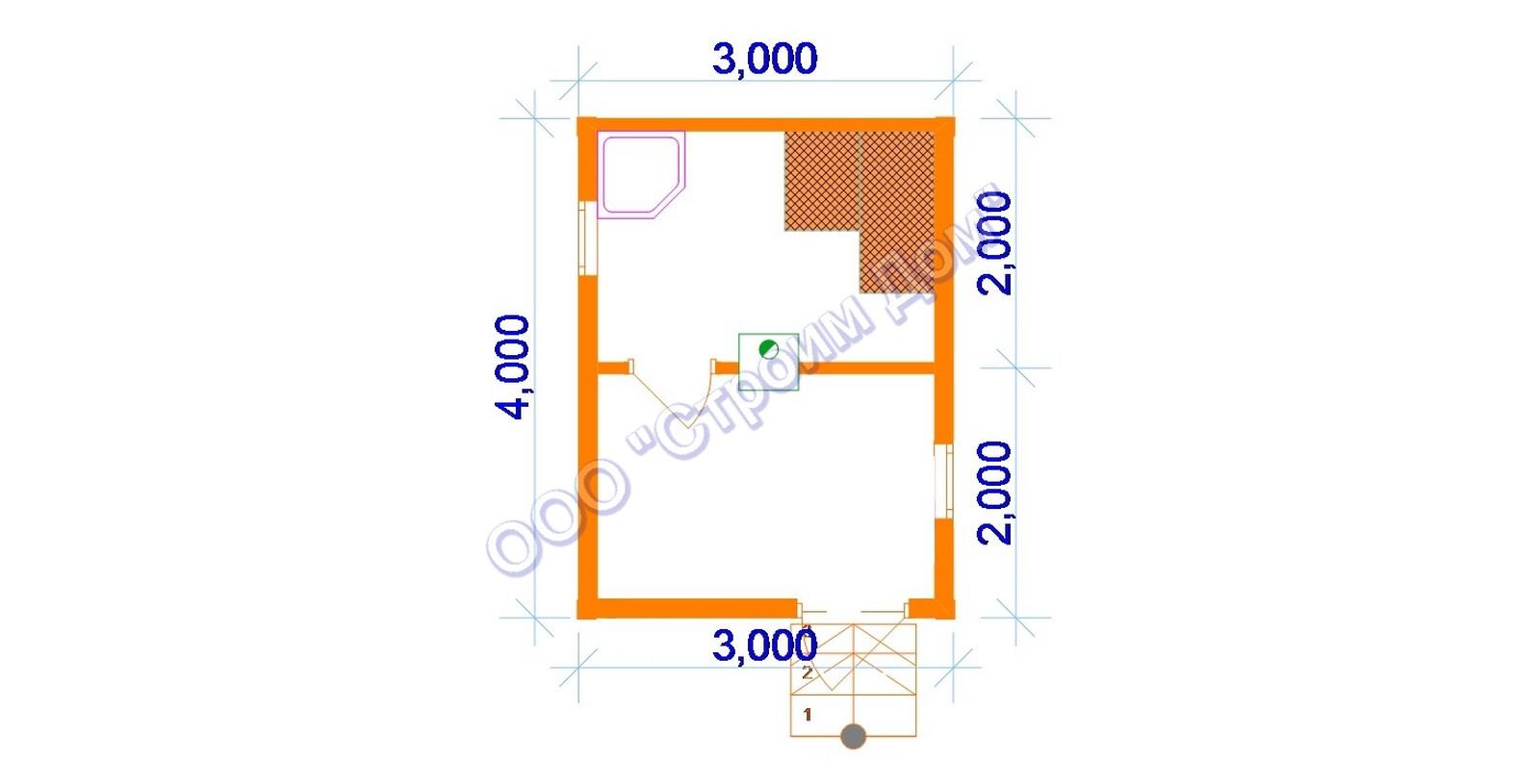 Какое количество кубов бруса нужно на баню 6х4: