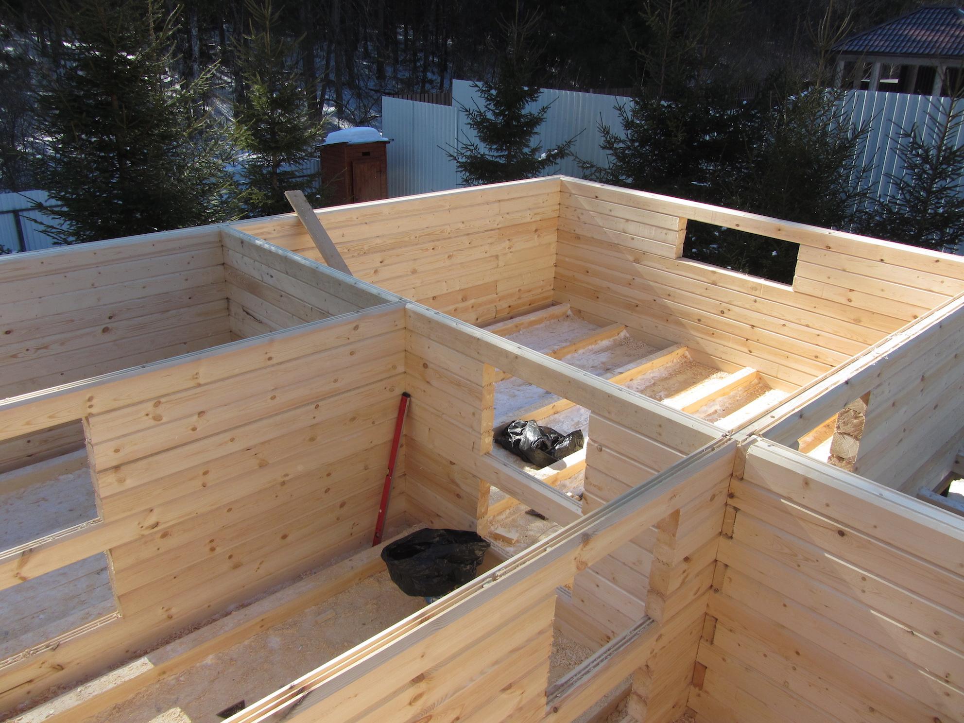 Как самому построить баню из бруса