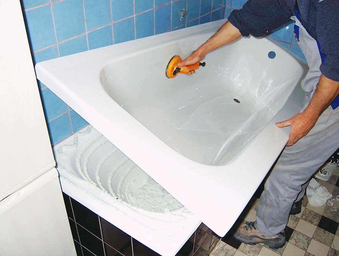 Ремонт акриловых ванн своими руками, как отремонтировать сколы и трещины (видео, фото)