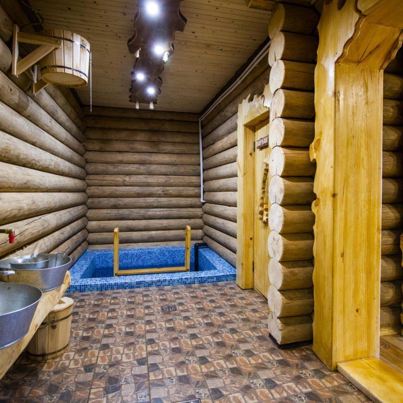 Полы в бане в помывочной