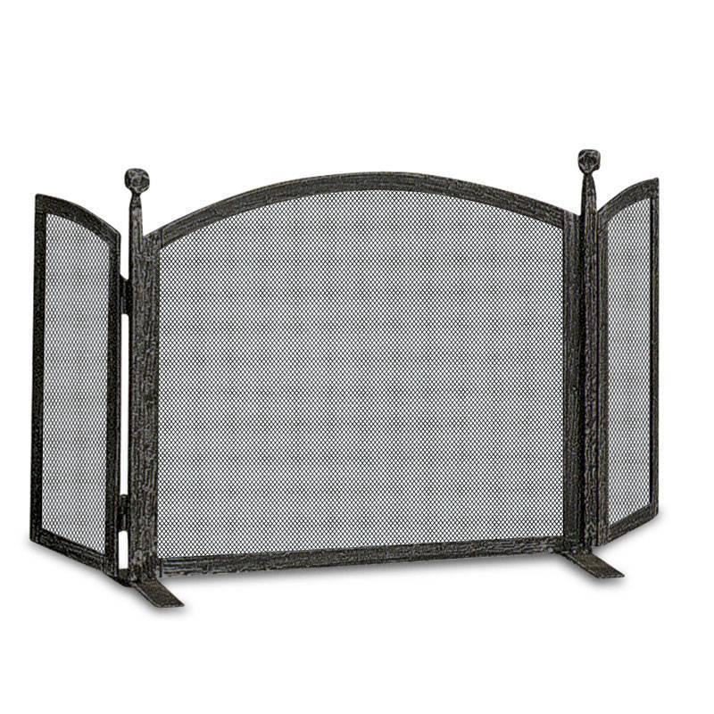 Экран для камина (45 фото): высокая защитная сетка для камина