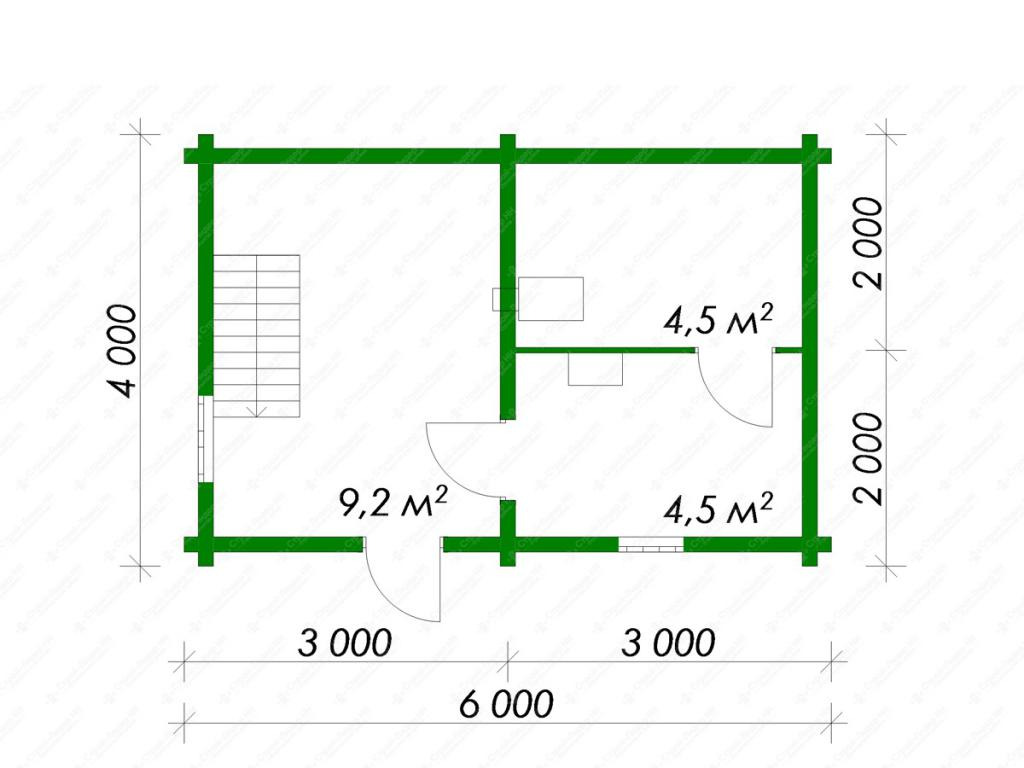 Из чего лучше строить баню 5 на 6 метров