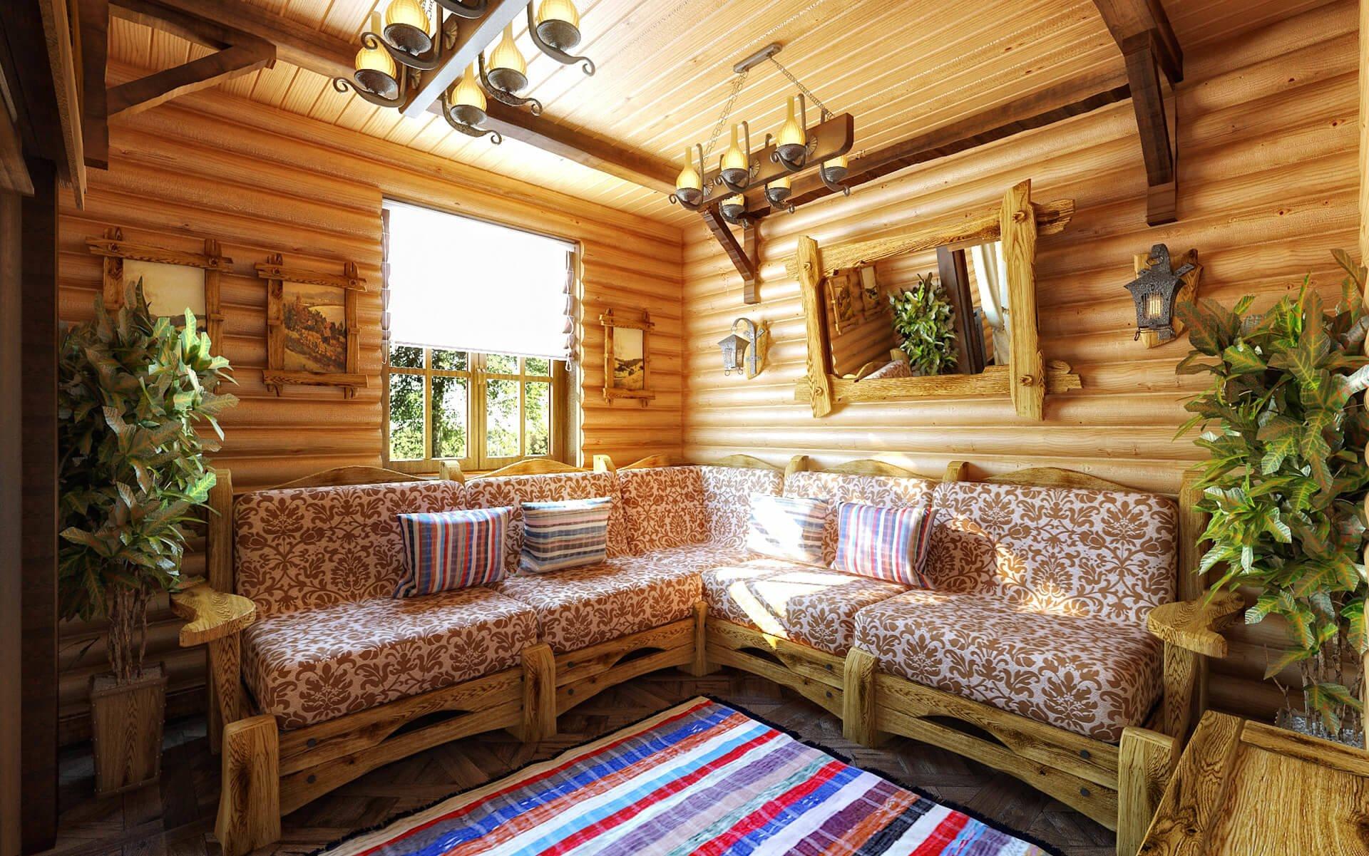 Комната отдыха в бане: дизайн интерьера, отделка, как обустроить, оформление, как отделать, фото и видео