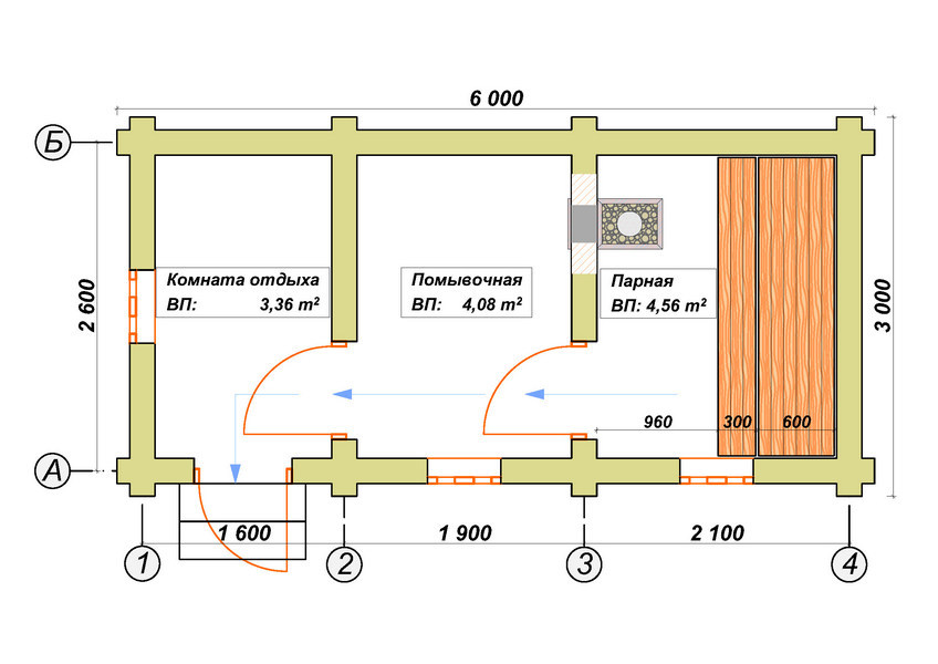 Баня 3х6, цена от 126 000 ₽: купить сруб из бревна 3 на 6 – баня мск, спб
