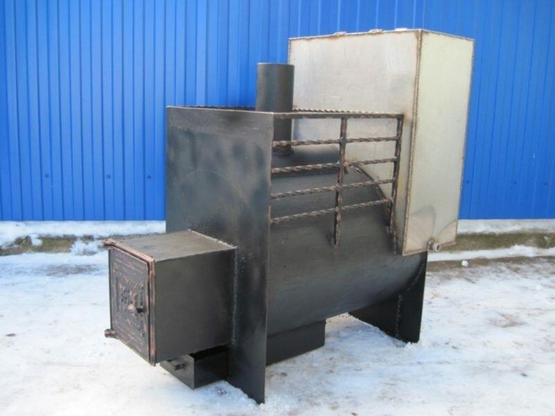 Самодельная печь для бани из трубы диаметром 530 мм: четрежи