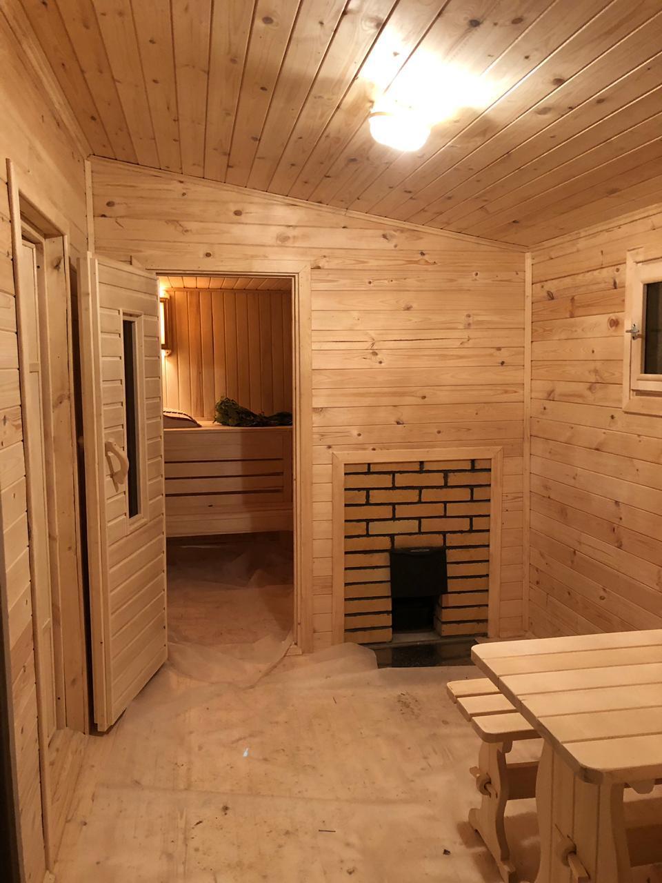Наружная обшивка бани блок-хаусом