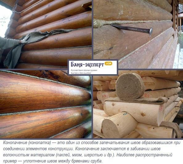 Конопатка бани: пошаговая инструкция, задачи, этапы, рабочие инструменты