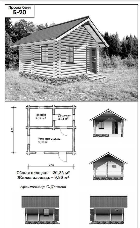 Проекты небольших бань: максимум комфорта за минимум средств