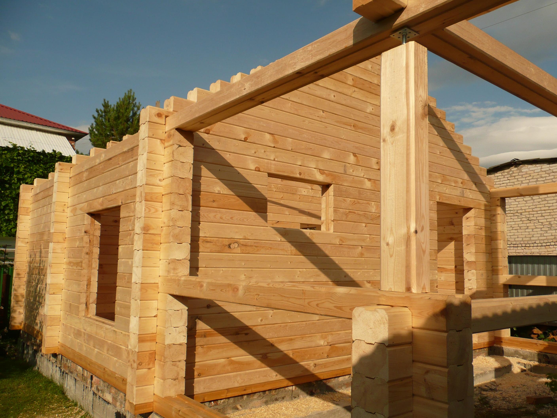 Все этапы работ по строительству бани из бруса