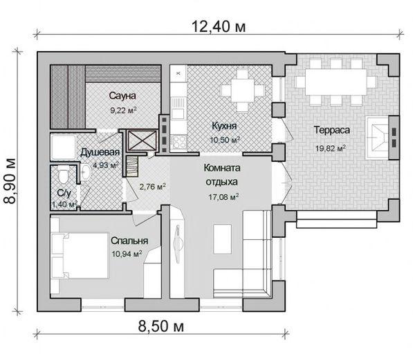 Дом-баня: примеры проектов