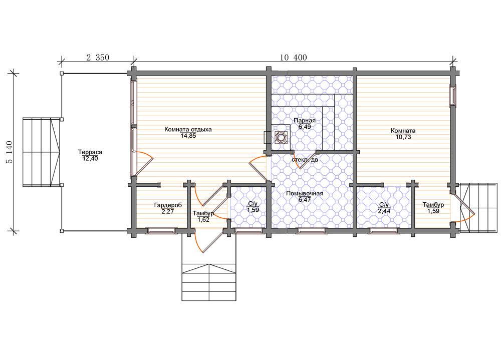 Проекты бани с комнатой отдыха: особенности составления, виды   построить баню ру