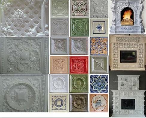 Керамическая плитка для печей: виды и свойства огнеупорного декора