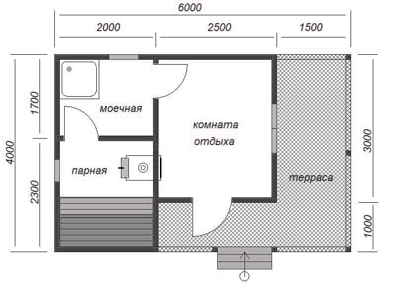 6 достоинств проекта бани 6х4 с мансардой [+10 фото]