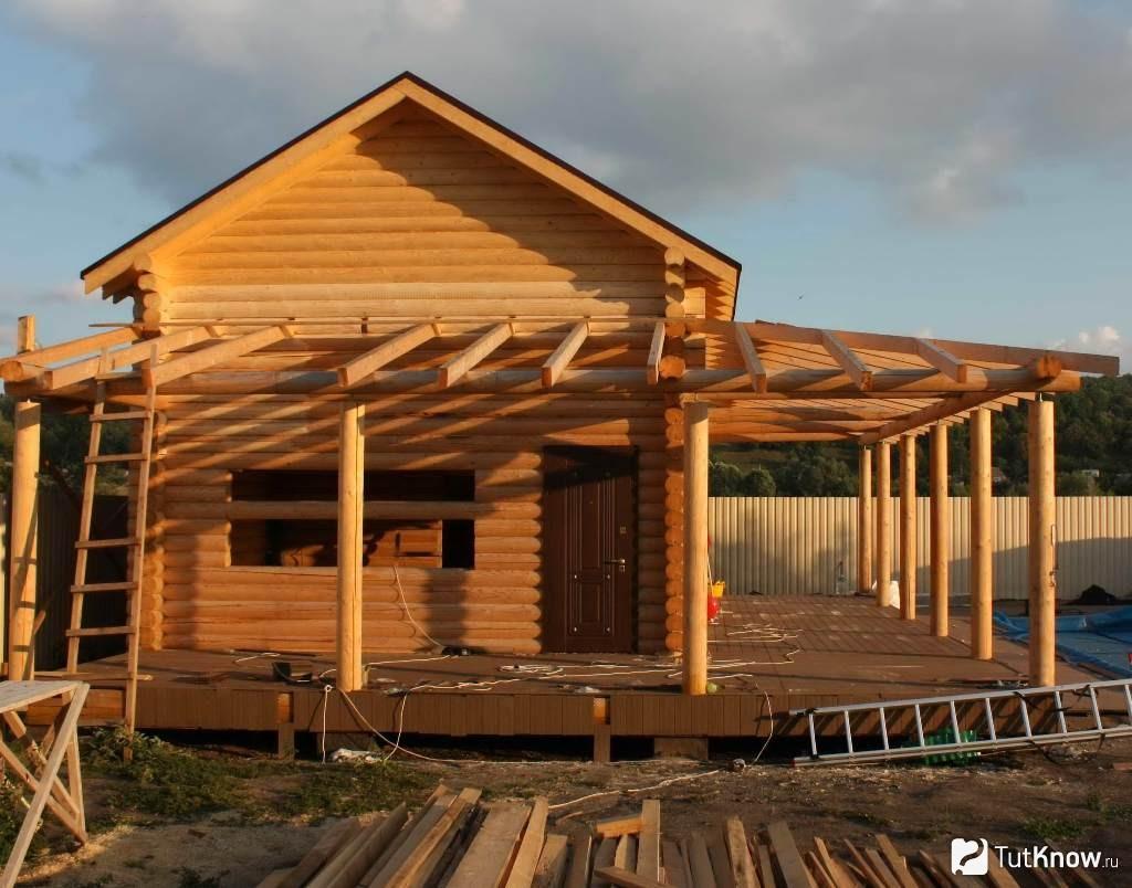 Веранда к бане: фото, проекты. как построить веранду к бане своими руками?   построить баню ру