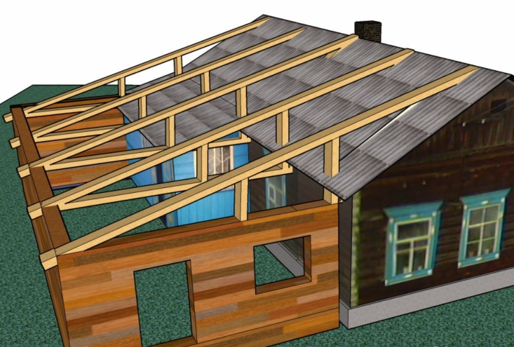 Строительство односкатной крыши: плюсы и минусы