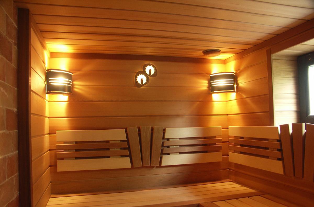 Освещение в бане в парилке