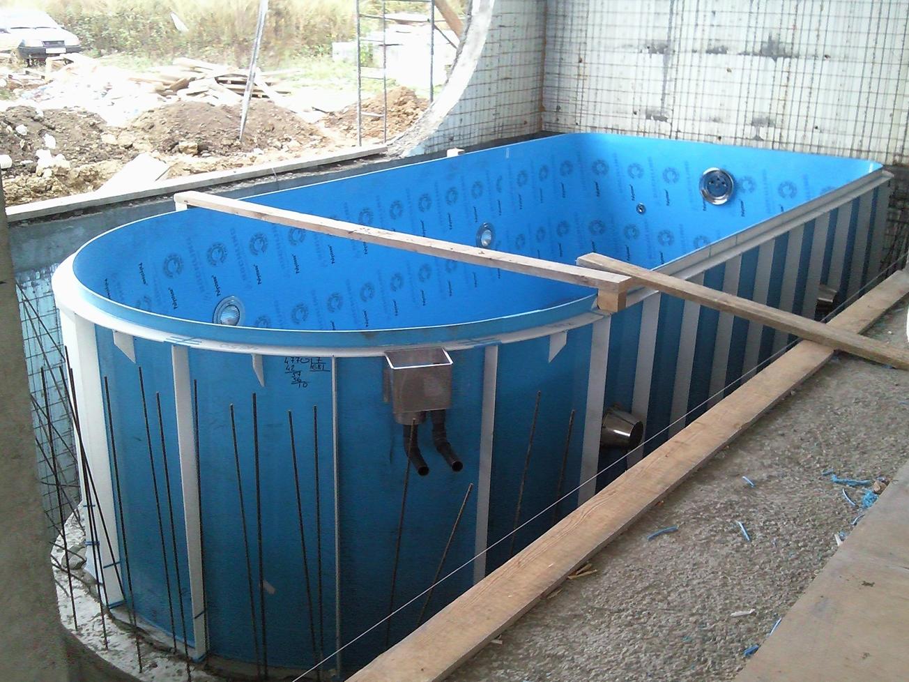 Бассейн на даче: каркасный, стационарный своими руками