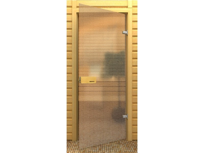 Выбор модели стеклянной банной двери
