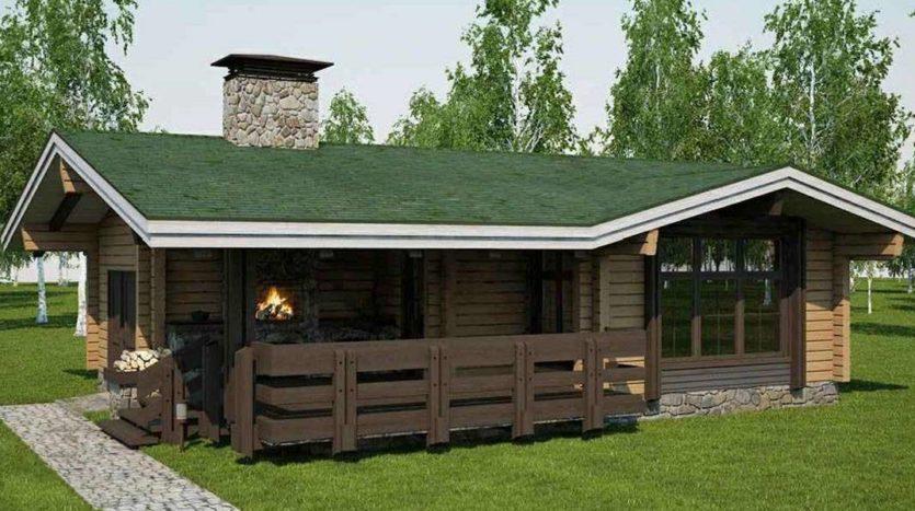 Баня с барбекю под одной крышей