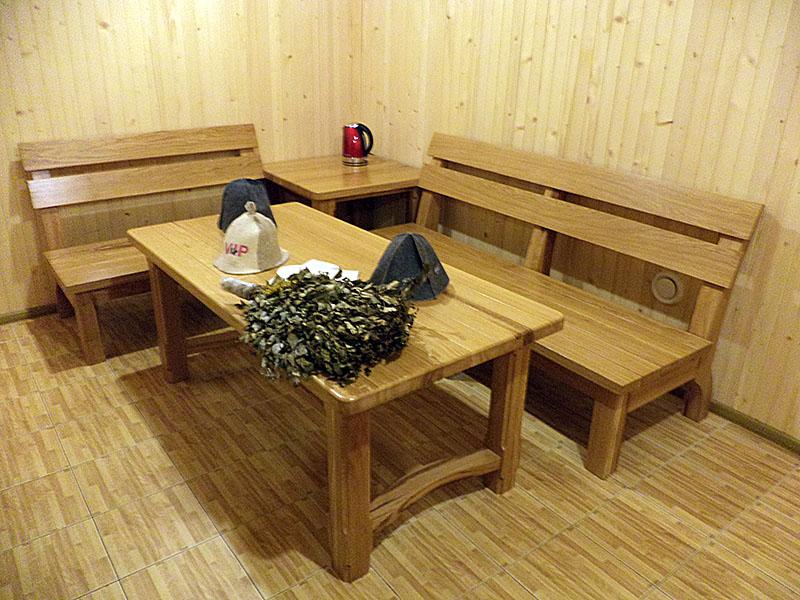 Изготовление мебели в баню своими руками из дерева