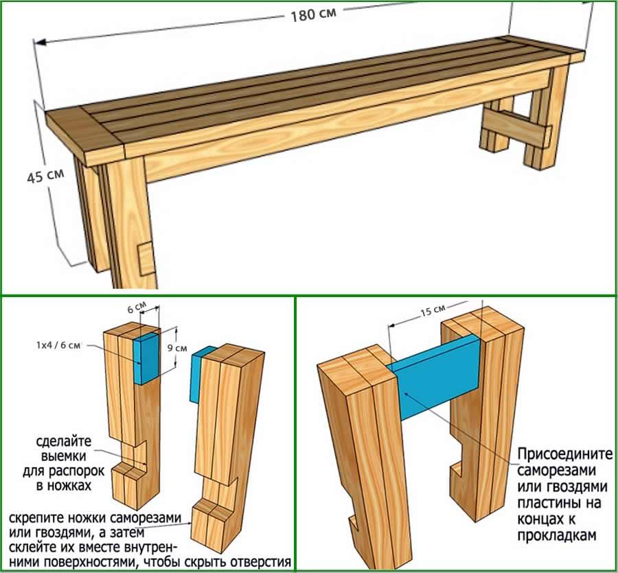 Лавка для бани своими руками чертежи |  печь, баня, сауна | postrojkin.ru