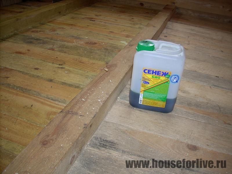 Пропитка пола бани от гниения - составы для пола, для лаг в бане, а также составы для защиты бетонных поверхностей от плесени