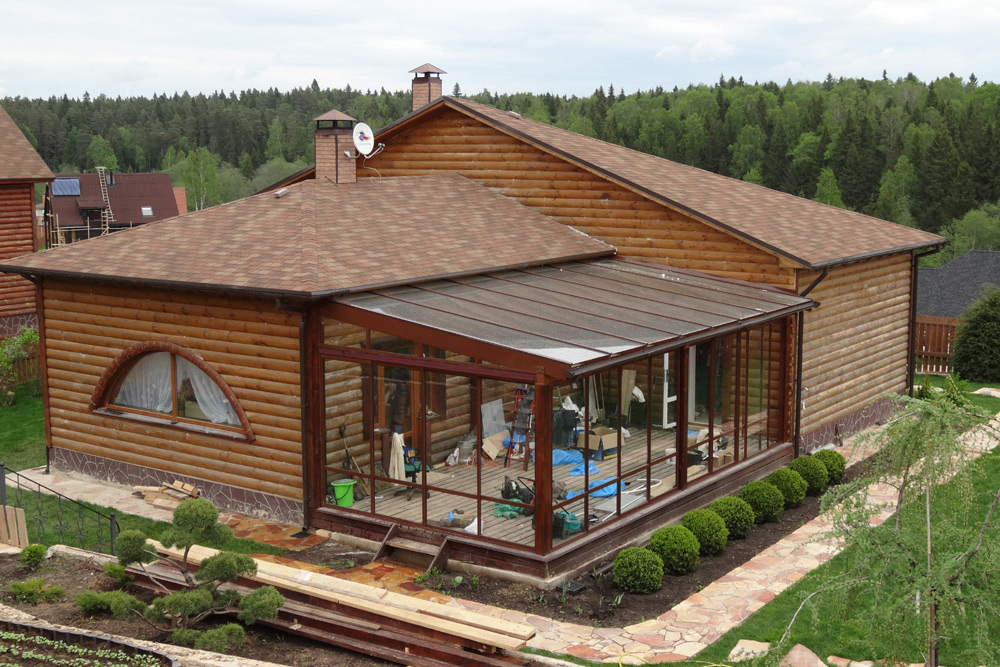 Баня с террасой: обдумываем проект и выбираем материал для строительства