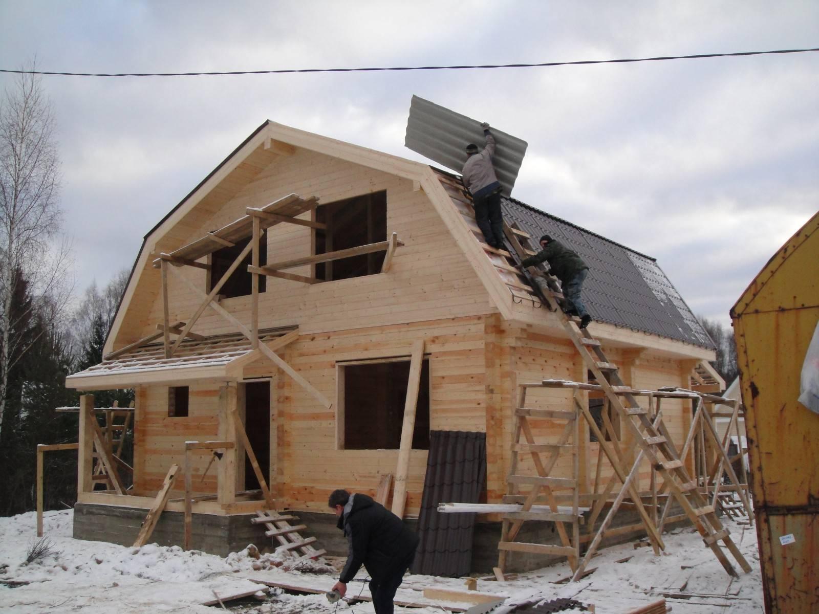 Можно ли строить баню зимой