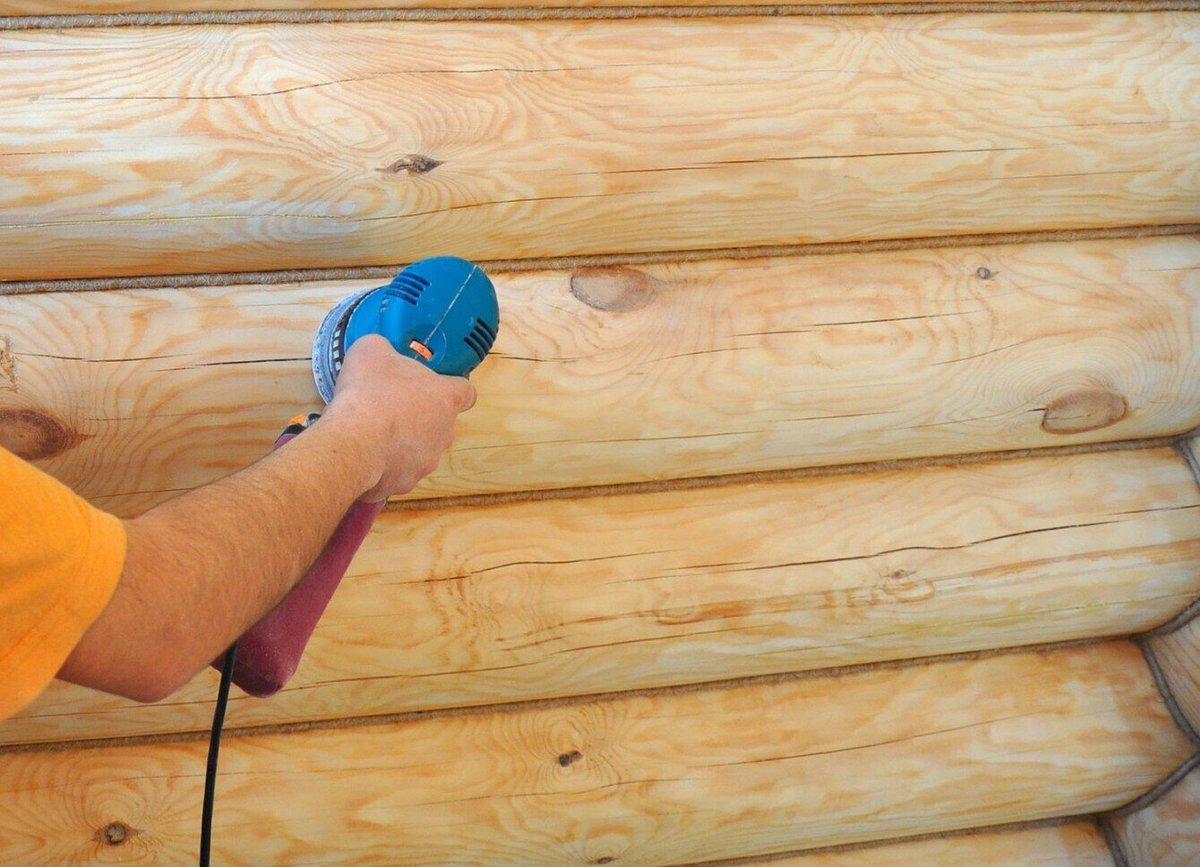 Шлифовка деревянного сруба: технология процесса