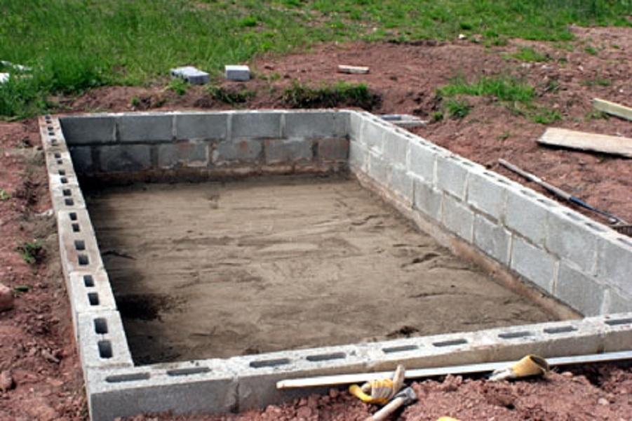 Баня из шлакоблока своими руками - инструкция по созданию бани. узнай