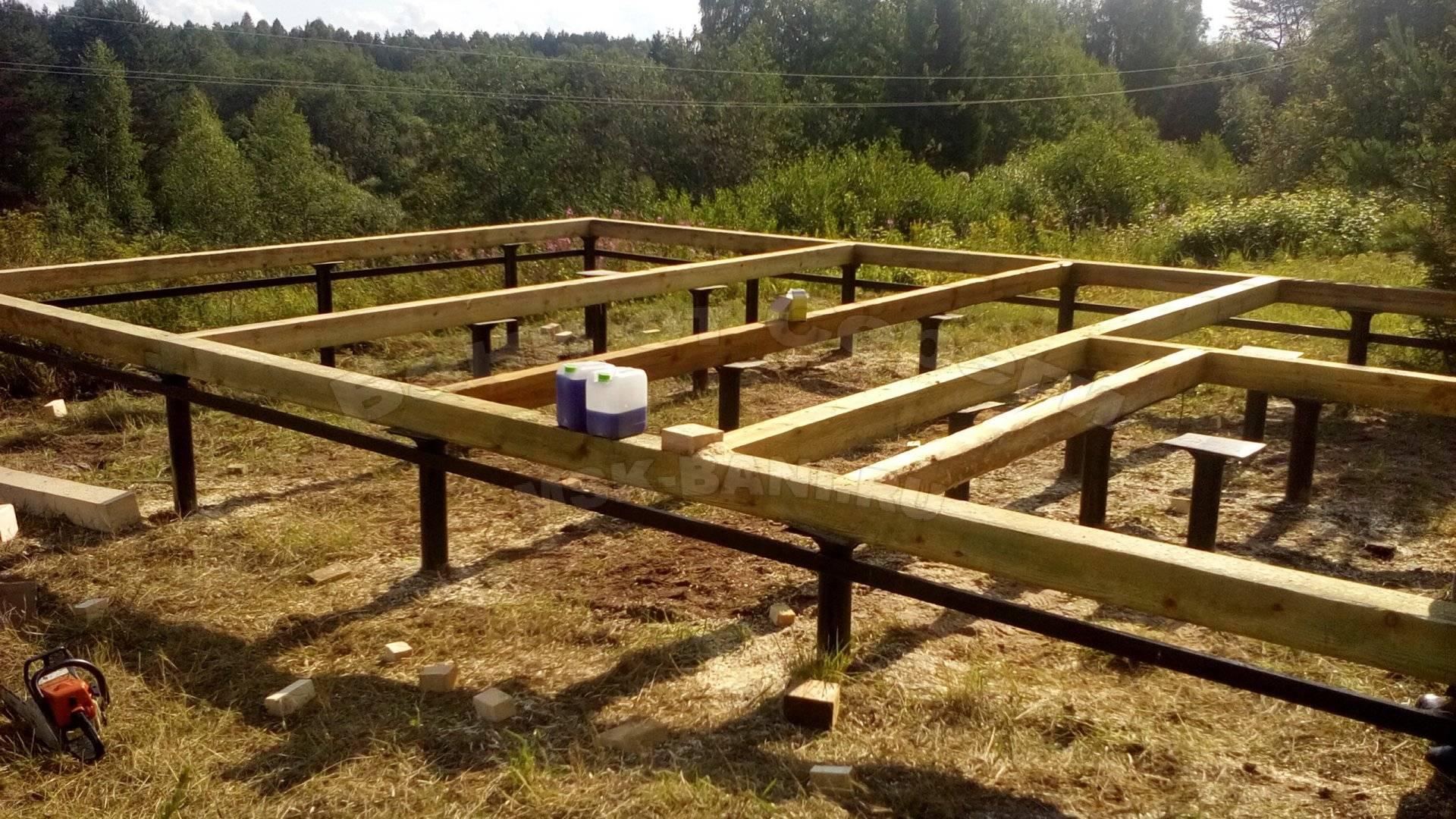 Винтовой фундамент для бани