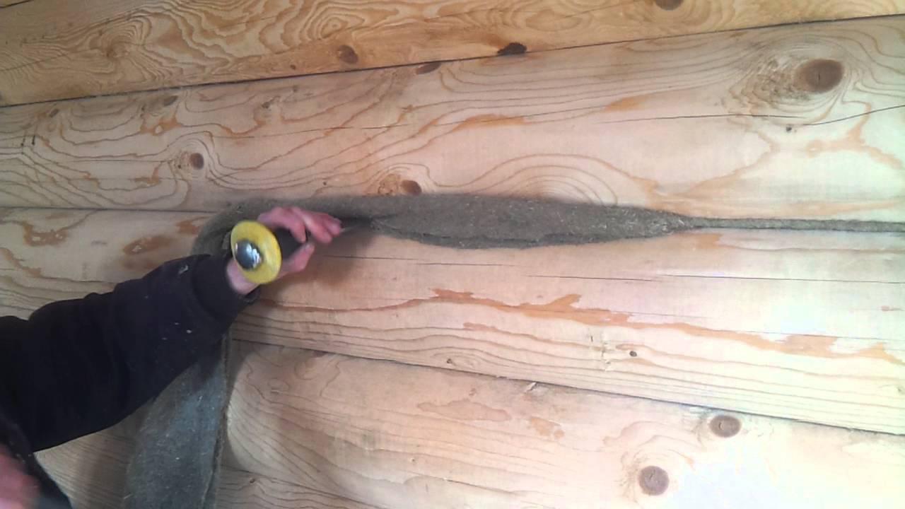 Конопатка сруба своими руками: пошаговая инструкция
