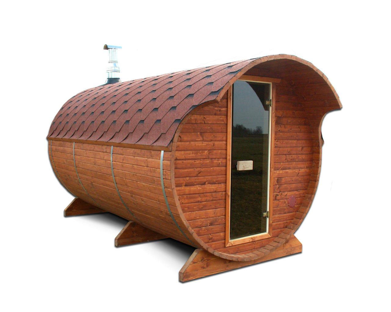 Утепленная баня бочка