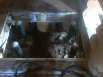 Установка металлической печи в бане