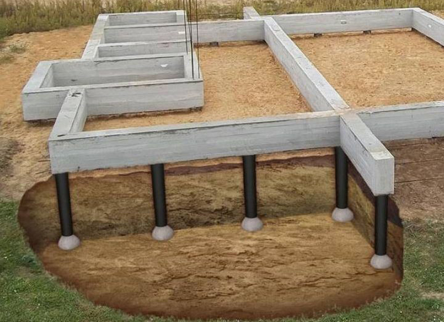 Свайно-ленточный фундамент своими руками — советы и инструкция по строительству