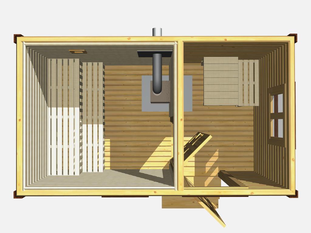 Передвижной прицеп баня – устройство и правила строительства