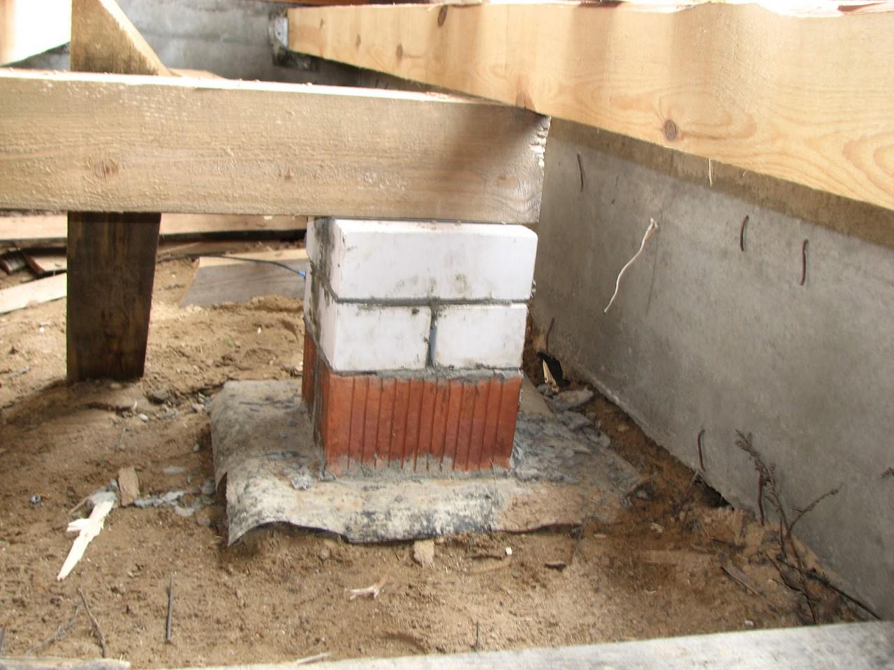 Столбчатый фундамент для бани - фундамент своими руками