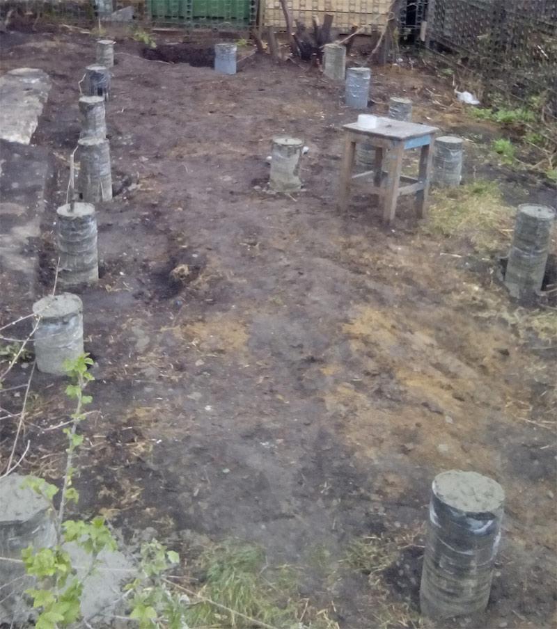 Столбчатый фундамент под баню - можно ли сделать столбчатый фундамент для бани из блоков
