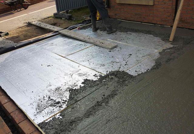 Пол из бетона в бане