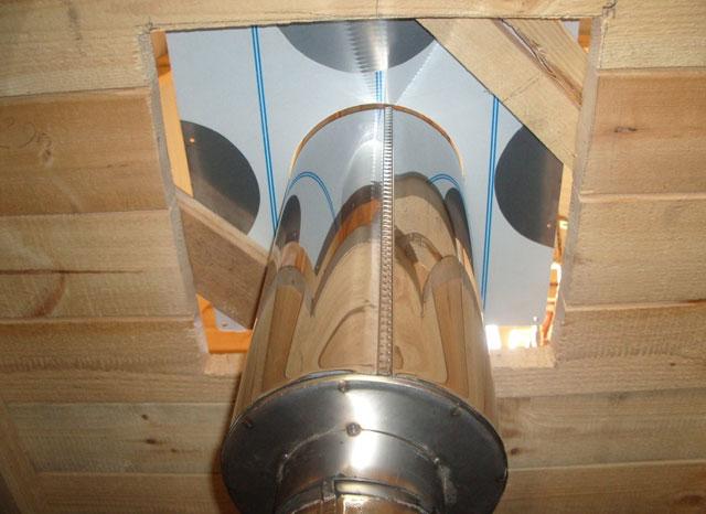 Как монтировать самый пожароопасный участок дымохода: проходной узел
