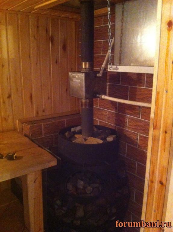 Отопление в бане через теплообменник