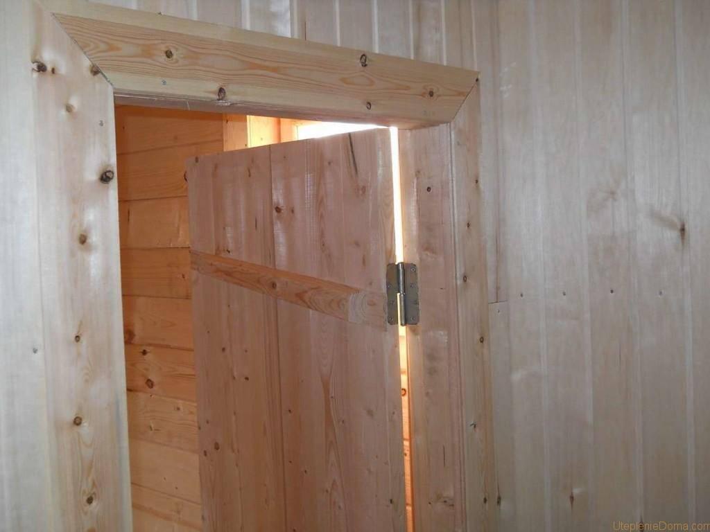 Принципы изготовления дверей в баню своими руками