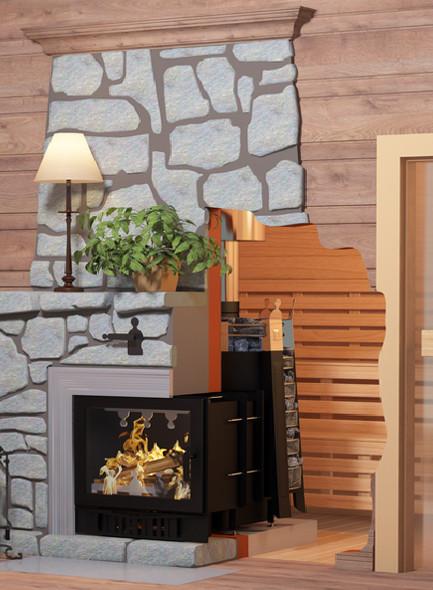 Электро-дровяные комбинированные печи для бани