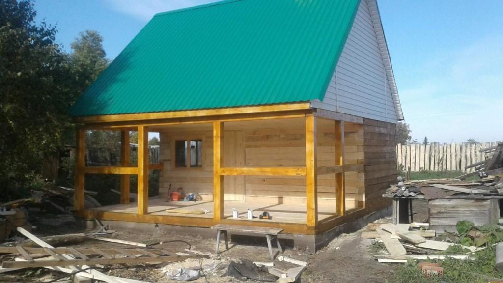 Баня с беседкой под одной крышей: фото, проекты