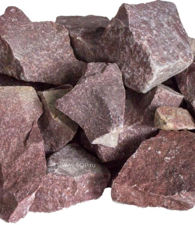 Кварцит малиновый - незаменимый камень для бани