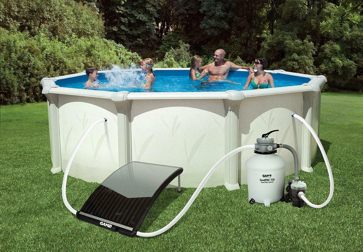 Подогрев бассейна солнечными батареями: принцип действия