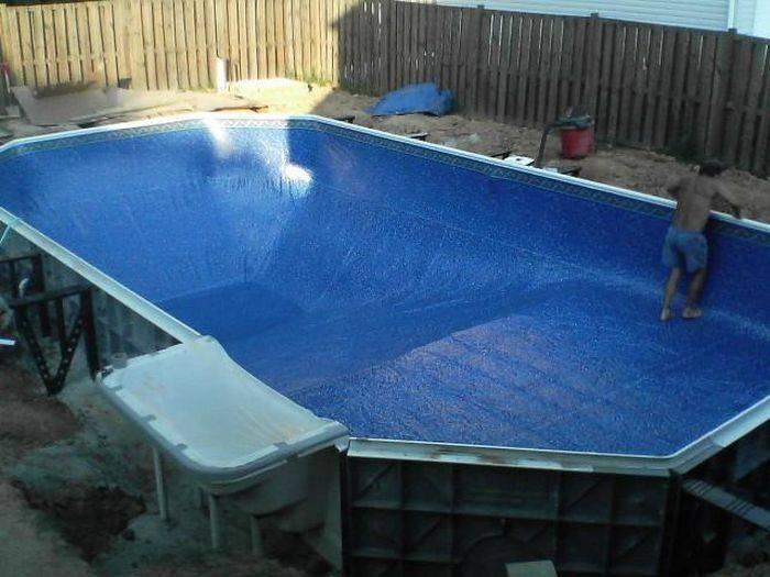 Как сделать бассейн на даче своими руками: фото, видео строительства и оформления дачной купели