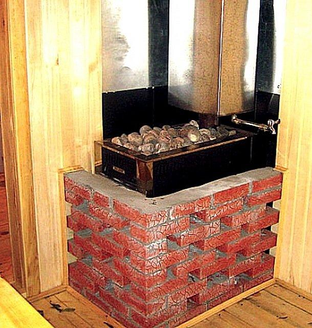 Правильная облицовка: как обложить железную печь в бане кирпичом