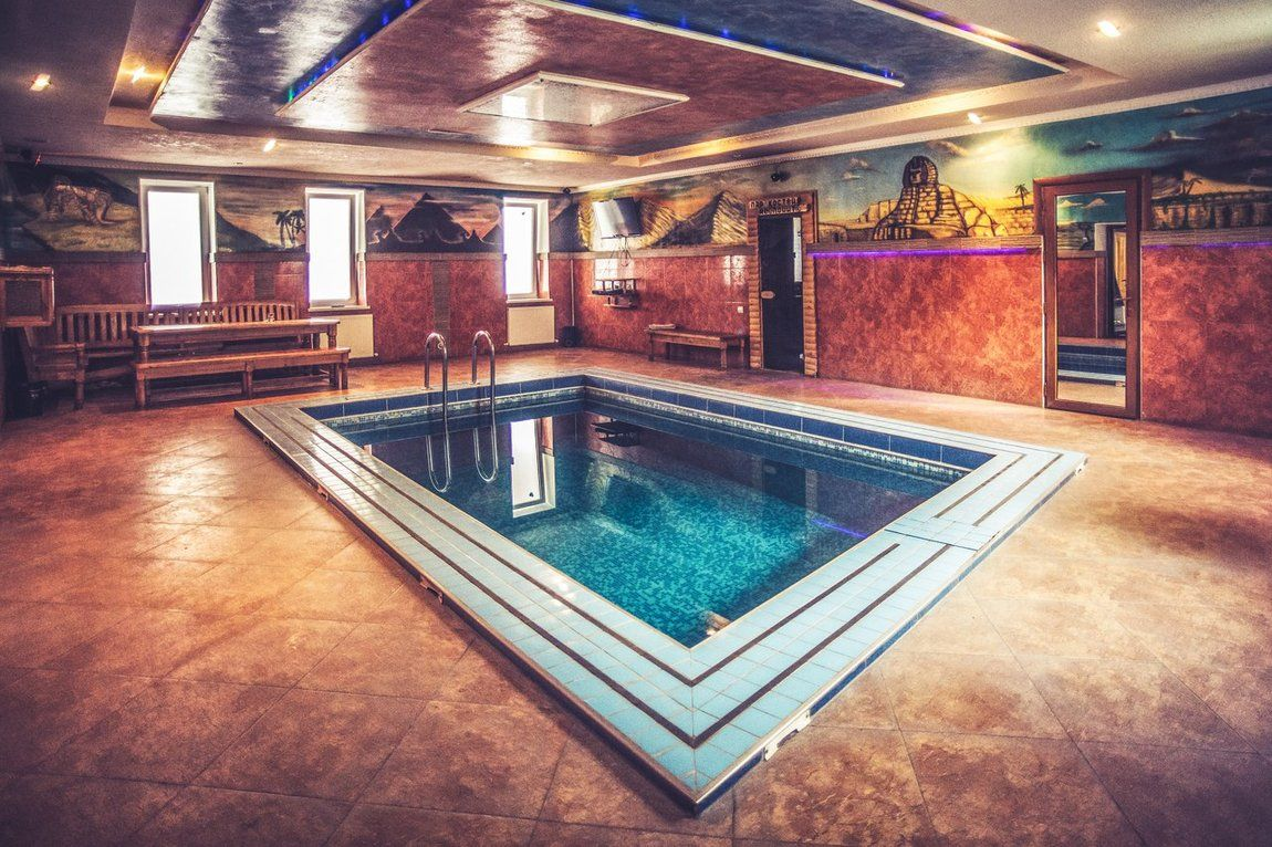Бассейн в бане: 20 фото и проектов
