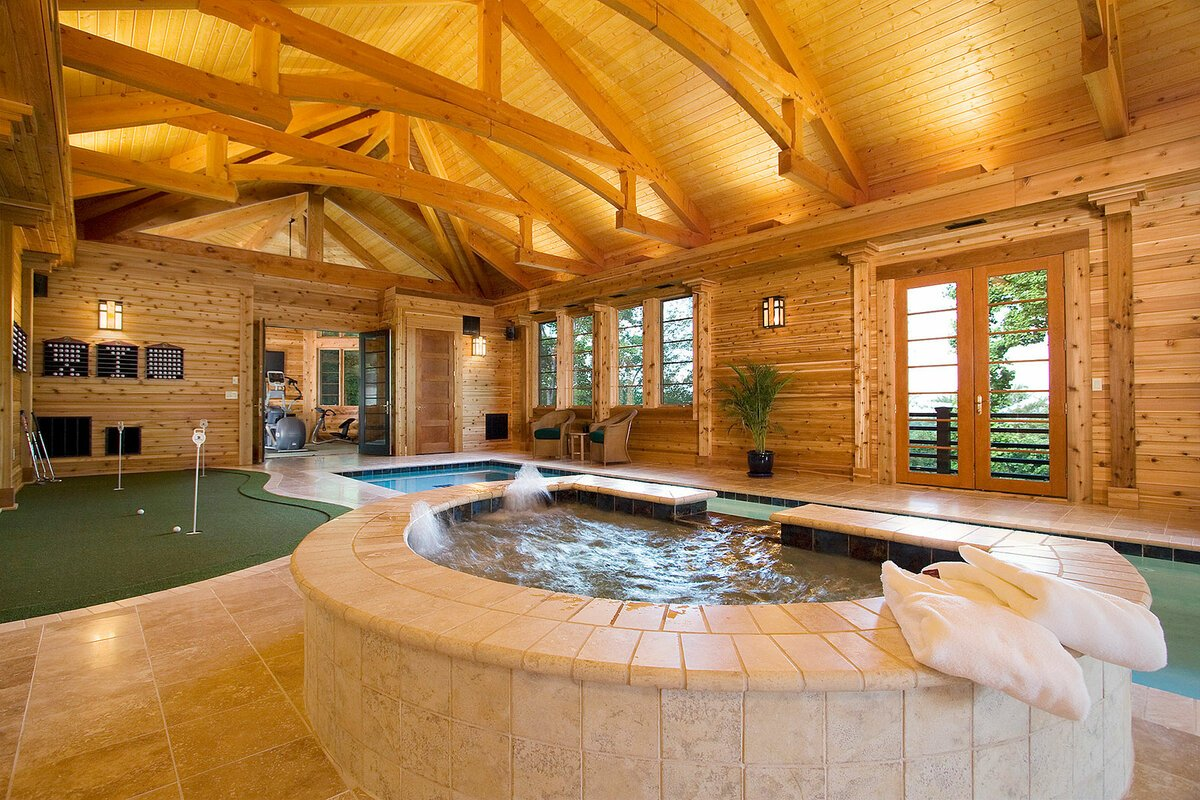 Проект бани с бассейном [100 фото], различные планировки